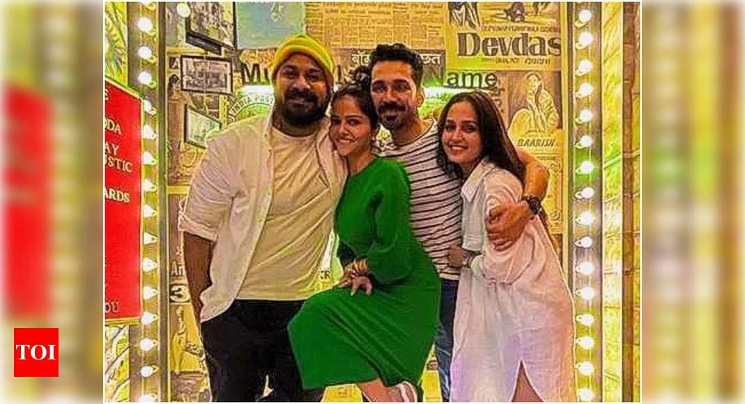 Faisal Raza Khan and Gazala Shaikh celebrate their fifth wedding anniversary with friends Rubina Dilaik a - Times of India