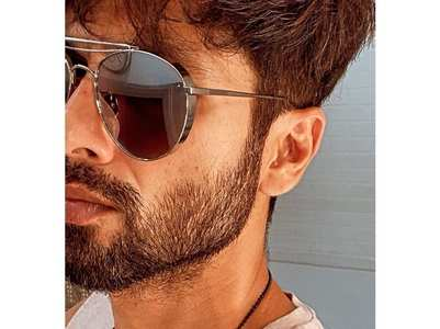 Shahid shows off his salt & pepper beard