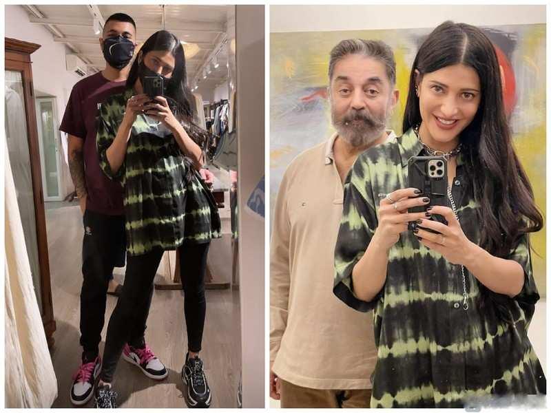 Shruti Haasan's pictures with Kamal Haasan and rumoured boyfriend Shantanu Hazarika go viral