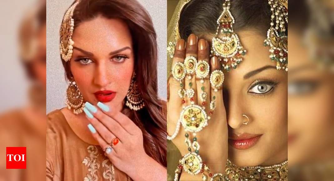Bigg Boss fame Himanshi Khurana performs on Aishwarya Rai's song 'Salaam' from Umrao Jaan; woos fans with - Times of India
