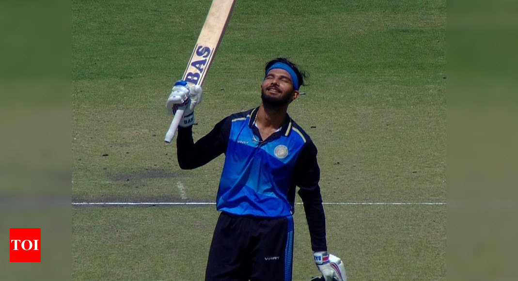 Vijay Hazare: Prerak slams 174 as Saurashtra thrash Chandigarh by 62 runs