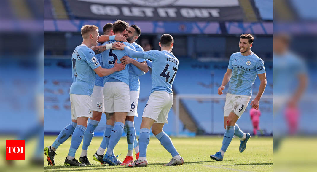 Premier League: Man City make it 20 straight wins with victory over West Ham | Football News – Times of India
