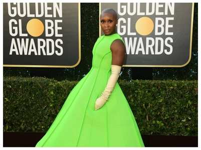 Cynthia Erivo walks the red carpet in style!