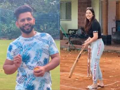 Rahul Vaidya plays cricket with Disha; watch