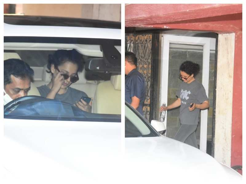 Photos: Kangana Ranaut slays it in her casuals as she gets snapped by the paparazzi outside her gym
