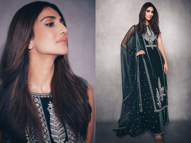 Vaani Kapoor's olive green sharara set is the best wedding guest outfit of the season