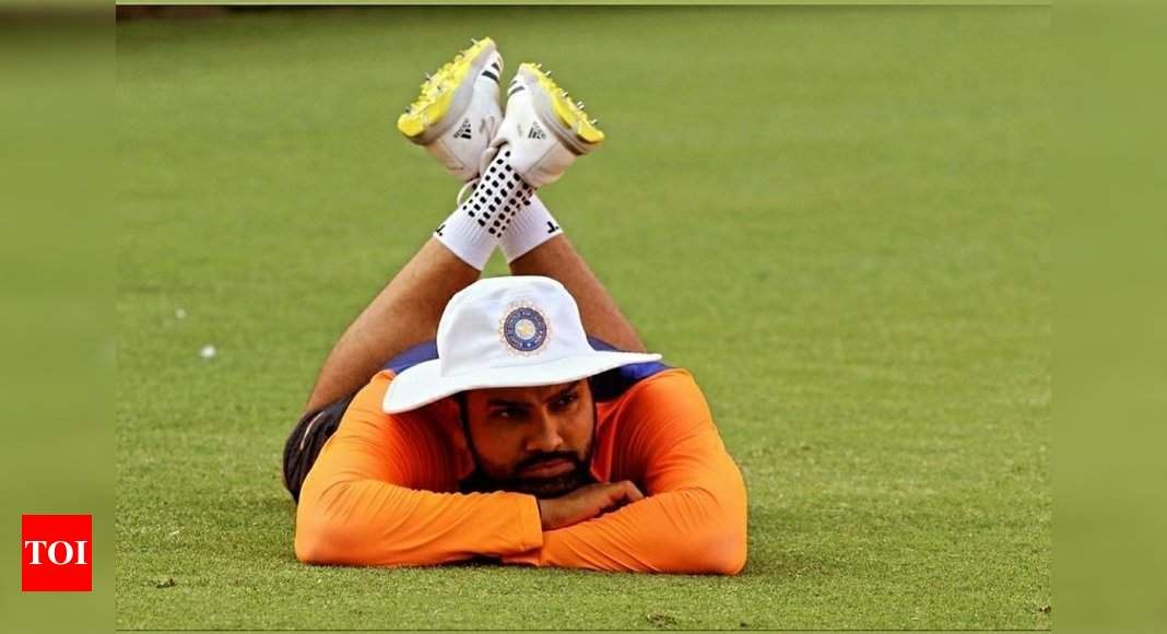 Social Humour: Rohit Sharma's 'lazy pose' now a viral meme - Times of India
