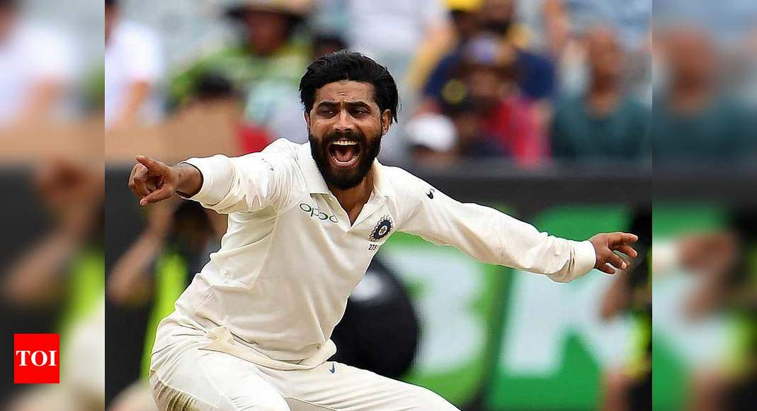 ravindra jadeja:  Ravindra Jadeja must be 'wondering' why his dislocated thumb is still not healed, quips Sunil Gavaskar | Cricket News – Times of India