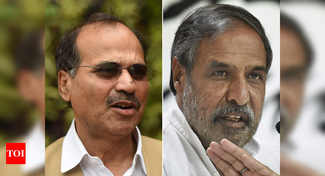 'Know your facts': Adhir Ranjan Chowdhury vs Anand Sharma over Cong's West Bengal tie-up | India News – Times of India