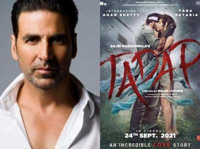 Akshay presents Ahan's debut film poster