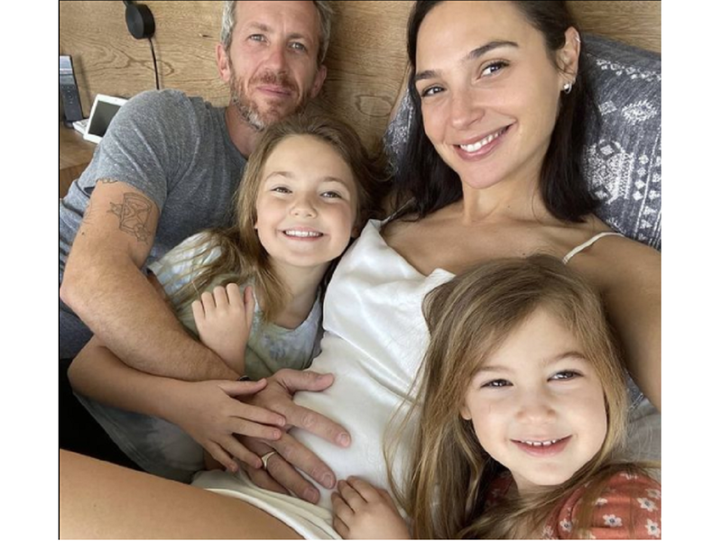 Gal Gadot announces third pregnancy with adorable family picture