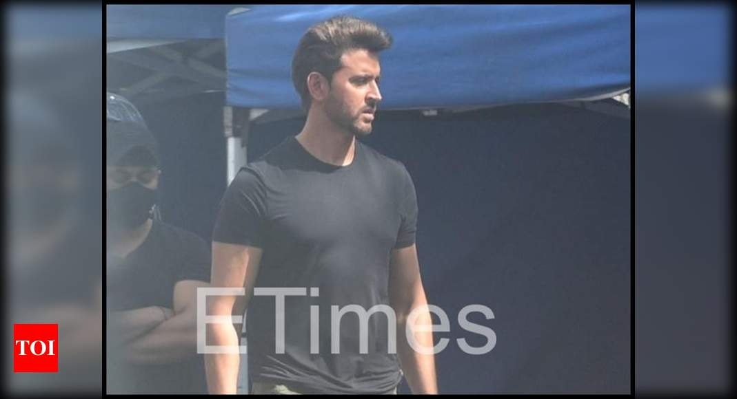 Exclusive photos! Hrithik Roshan looks suave as he gets clicked in the city for an ad shoot – Times of India