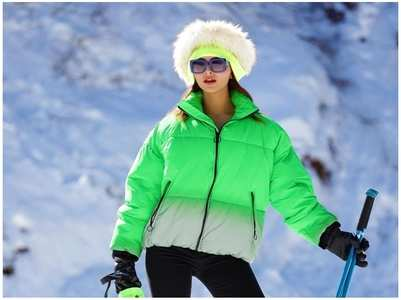 Exclusive! Urvashi: Did some skiing Shimla