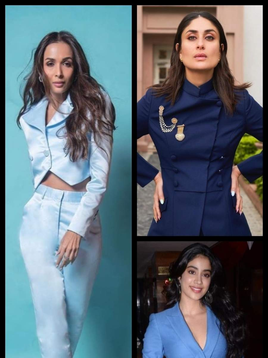 Rock these celeb-approved blue pantsuits