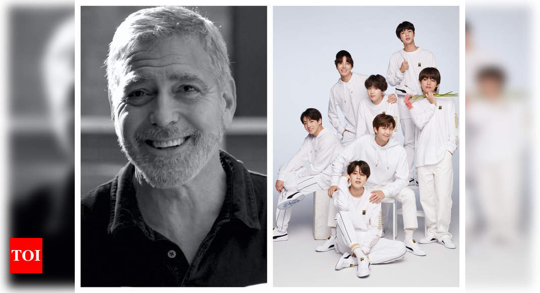 BTS shares hilarious video of George Clooney a.k.a. Brad Pitt reading 'Dynamite' lyrics and it is sure to leave you laughing out loud – Times of India