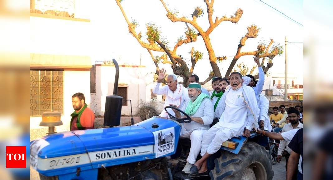 Farmers to campaign against BJP in 5 poll-bound states: Key developments | India News – Times of India
