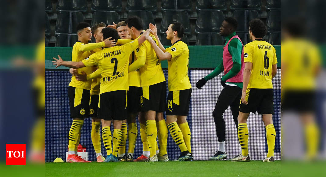 Jadon Sancho fires Dortmund into German Cup semi-finals
