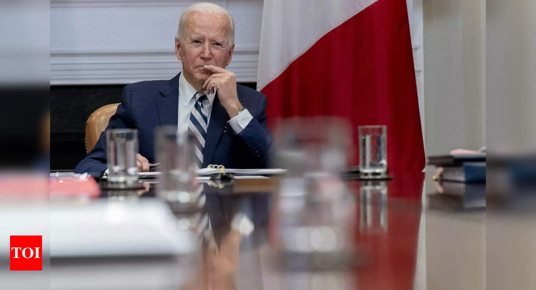 US will have enough vaccine supply for all adults by end May: Biden - Times of India
