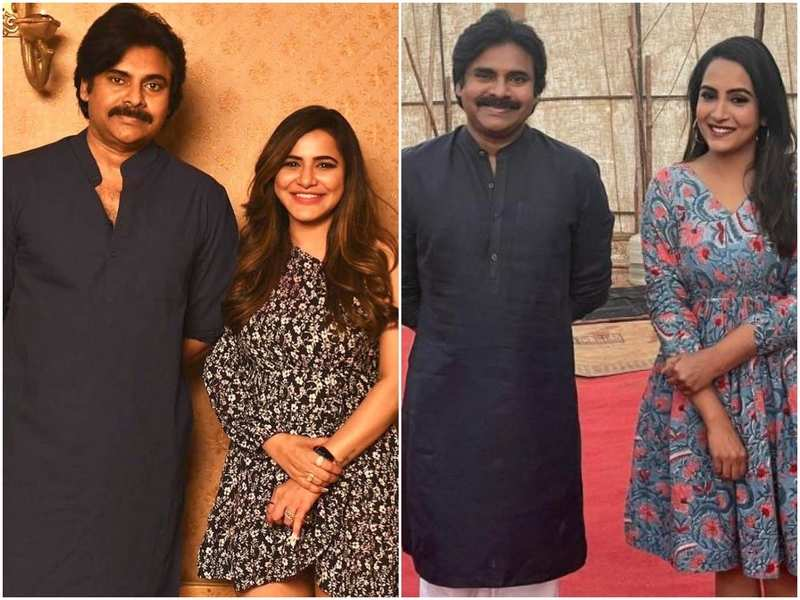 Pawan Kalyan pens handwritten notes for Ashu Reddy and Himaja on the sets of #PSPK27