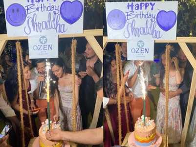 Pics: Shraddha celebrates B'day with Rohan