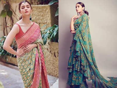 5 times Alia Bhatt made a stunning appearance in a designer sari