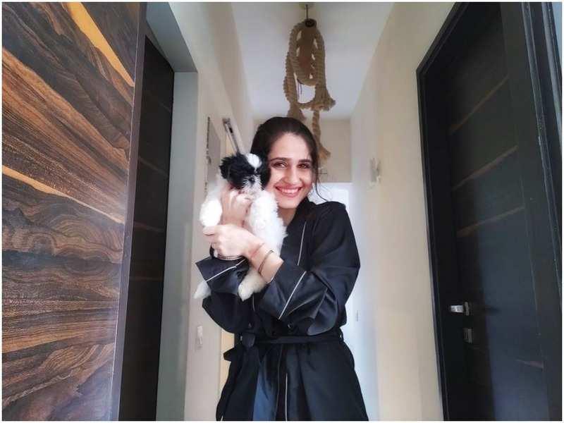 Hunar Gandhi with her pet Amigo