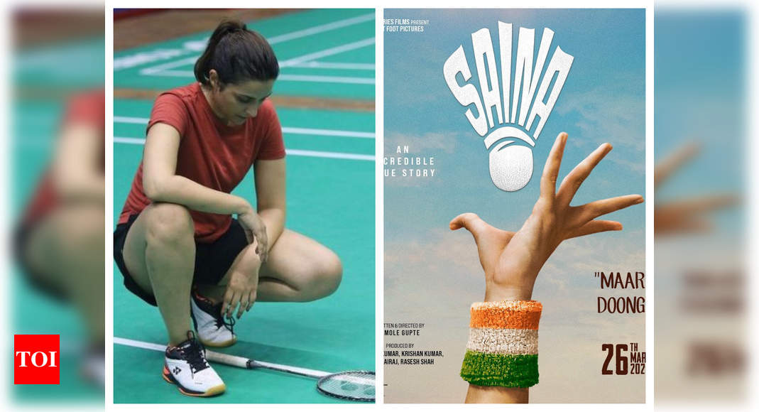Fans notice a blooper in Saina poster