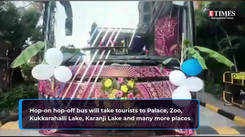 Take a look at double-decker bus which will ferry visitors to tourism destinations in Mysuru