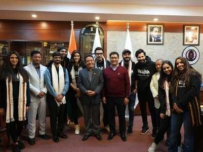 Team Bhediya meets Arunachal Pradesh CM