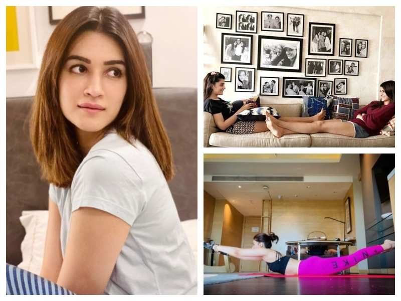 Pictures from Kriti Sanon's Instagram that will give you a tour of her stylish and chic home in Mumbai