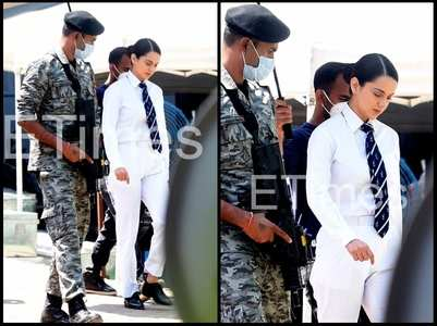 Exclusive pics! Kangana on the sets of Tejas