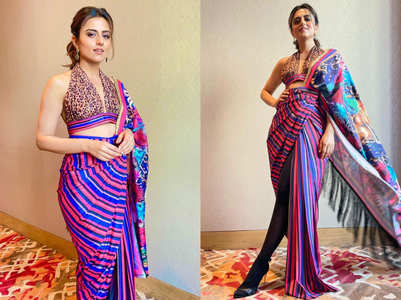 Ridhi Dogra's sari with a twist is worth a dekko