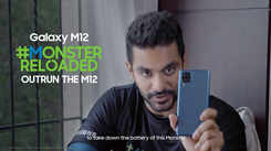 Samsung Galaxy M12| Angad Bedi gives his best in the #MonsterReloaded challenge – Outrun the M12