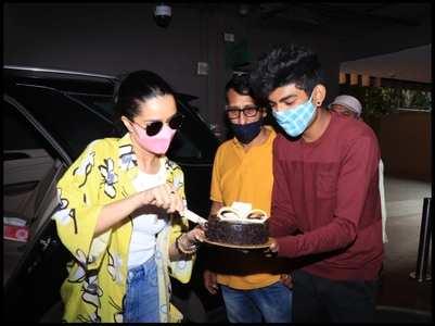 Shraddha celebrates her b'day with media