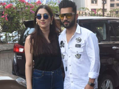 Rahul Vaidya spotted with gf Disha Parmar