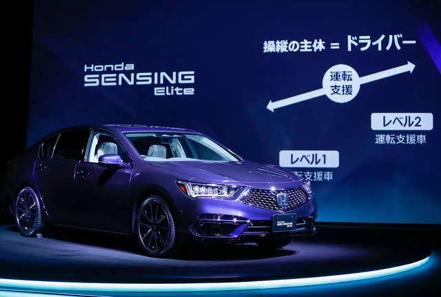 Honda unveils partially self-driving sedan 'Legend' in Japan