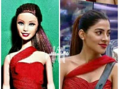Nikki Tamboli gets immortalised as a doll