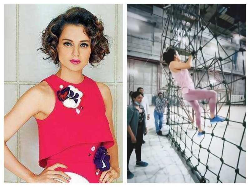 Watch! Kangana Ranaut shares army training video from sets of 'Tejas': Jealous crabs will always try and pull us down