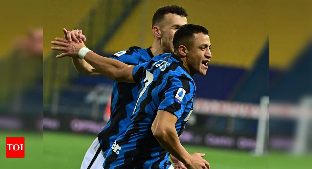 'Like a lion' Sanchez hits brace to send Inter six points clear