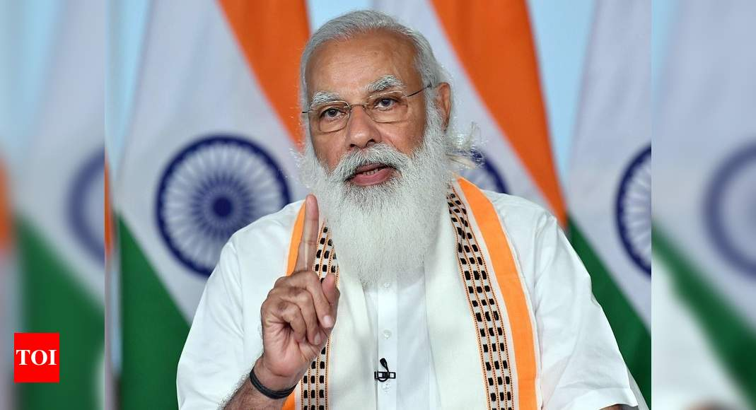 Need to work hard to make manufacturing in India globally competitive, says PM Modi - Times of India