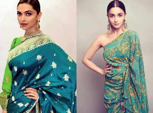 Royal green saris to take inspiration from