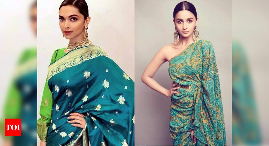 Royal green saris to take inspiration from