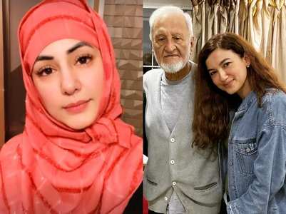 Hina Khan offers namaz for Gauahar's father