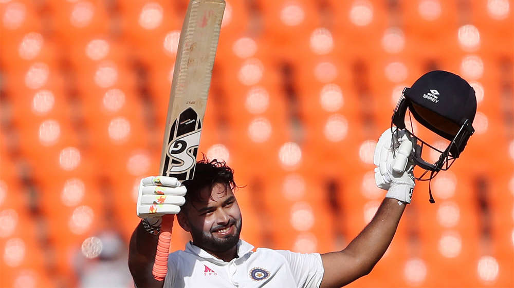 In Pics: Rishabh Pant's flamboyant hundred puts India on top against  England in fourth Test | The Times of India