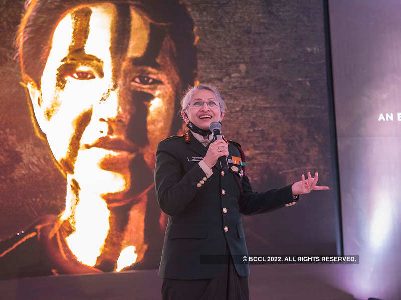 Lt Gen Madhuri Kanitkar, the chief guest at the screening of Women of Honour: Destination Army