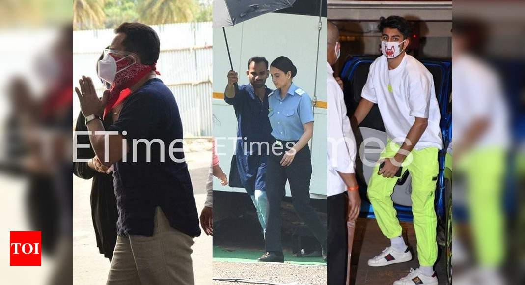 ETimes Papparazi Diaries: Saif Ali Khan takes the first shot of COVID-19 vaccine in the city; Kangana Ran - Times of India