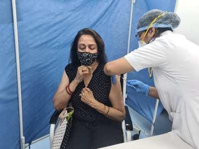 PICS: Hema Malini receives COVID-19 vaccine