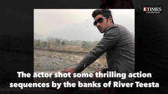 Actor Rezwan Rabbani Sheikh shoots in the hills of North Bengal for his serial, Saanjher Bati