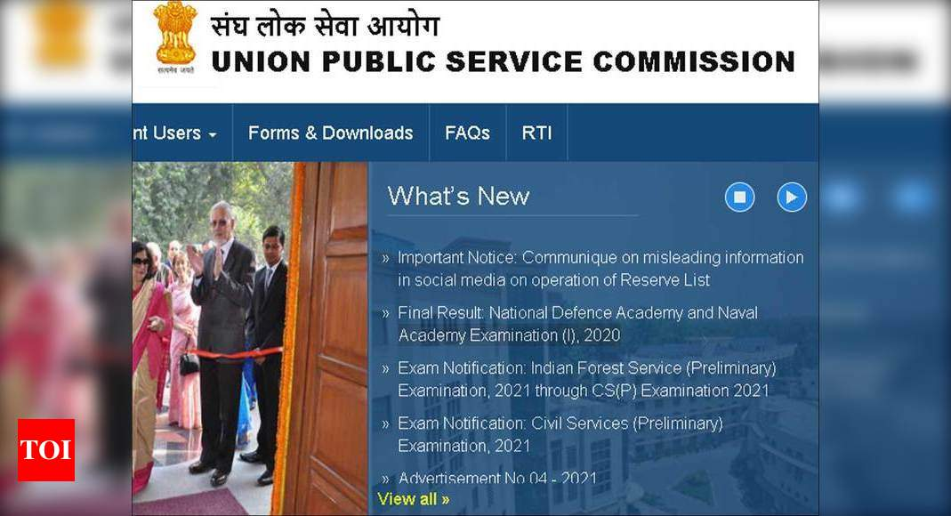 NDA Final result 2021 announced at upsc.gov.in – Times of India