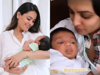 Anita showers son Aarav with love; see pics